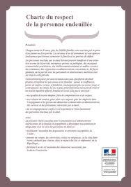 Charte de l'endeuillé.