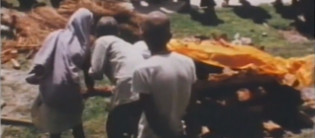 Rite funéraire : Katmandou : Crémation Indo-Népalaise