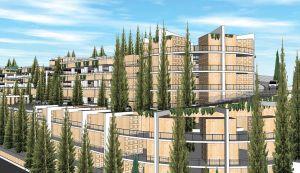 Le projet de cimetière vertical juif de Har Hamenuhot à  Jérusalem.